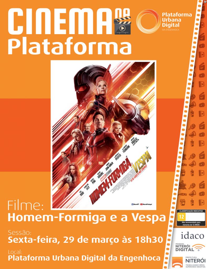 Cinema da Plataforma - Homem Formiga e a Vespa
